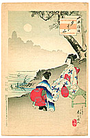 Shuntei Miyagawa 1873-1914 - Evening Cool - Children's Manners and Customs