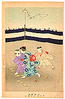Shuntei Miyagawa 1873-1914 - Changing Sandals  - Children's Manners and Customs