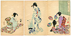 Chikanobu Toyohara 1838-1912 - After the Bath - Ladies of Chiyoda Palace