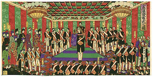 Meiji Emperor and the New Constitution