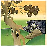 Gekko Ogata 1859-1920 - Maple Tree and Creek