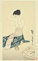 Yumeji Takehisa 1884-1934 - After Bath