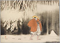 Kanpo Yoshikawa 1894-1979 - Going through the Snowy Woods