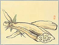 Bairei Kono 1844-1895 - Lotus Roots