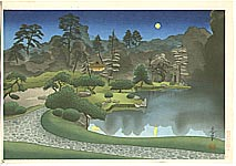 Bakufu Ono 1888-1976 - Tea House in Moon Light