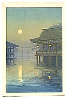 Yuhan Ito active 1930s - Misty Moon at Miyajima
