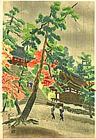 Eiichi Kotozuka 1906-1979 - Jingo Shrine in Rain
