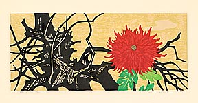 Fumio Fujita born 1933 - Drift Wood and Flower