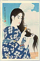 By Ito Shinsui - After Washing Her Hair, 1936