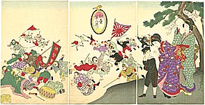 Chikanobu Toyohara 1838-1912 - War Game