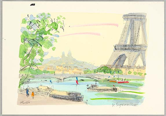 Yasushi Sugawara active late 20th C. - La Seine