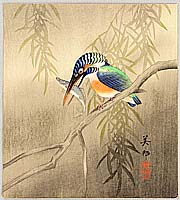 Biho Hirose active  ca. 1900-1910 - Kingfisher