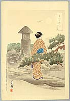 Gekko Ogata 1859-1920 - Beauty and Pine - Comparison of Beauties and Flowers