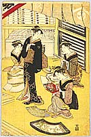 Toyokuni Utagawa 1769-1825 - Making Fan of Actors