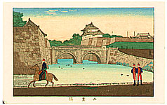 Yasuji Inoue 1864 - 1889 - Niju-bashi Bridge