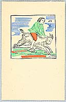 Unichi Hiratsuka 1895-1997 - Riding on a Goat