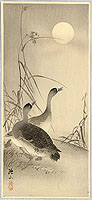 Sozan Ito 1884-? - Two Geese and the Moon