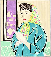 Seihyo Tanaka born 1903 - Lady in Head Scarf