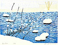 Hiroshi Iwane born 1941 - Stream in Early Spring