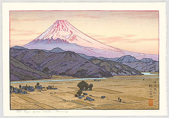 Mt. Fuji from Ohito, Morning - Toshi Yoshida (1911-1995)