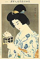 Shinsui Ito 1898-1972 - Beauty and Insect Cage