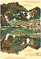 Susumu Yamaguchi 1897-1983 - Lake Taisho in Kamikochi