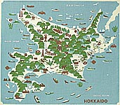 Yasushi Omoto born 1926 - Hokkaido Map