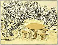 Senpan Maekawa 1888-1960 - Plum Trees and Table