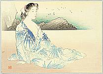 Hanko Kajita 1870-1917 - On a Beach