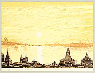 Xi Zhengru born 1943 - The morning at Huangpu River - Ten Views of Shanghai