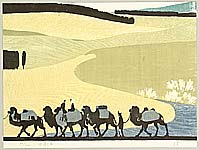 Zhang Baibo born 1944 - Ships of the Desert - Ten Views of  Silk Road (Continued)