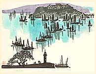 Huang Pimo born 1925 - Taifu Lake  - Ten Views of  Jiangnan