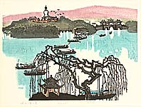 Huang Pimo born 1925 - Slender West Lake  - Ten Views of  Jiangnan