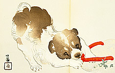 Seiho Takeuchi 1864-1942 - Puppy and Favorite Toy