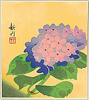 Shinsen Nishino fl.ca. 1960s - Hydrangea
