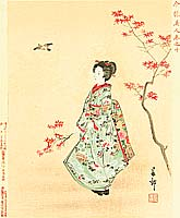 Shunko Nakajima fl.ca. 1890s - Beauty and Maple