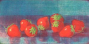 Yoshitsugu Yoshii 20th C. - Strawberries