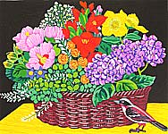 Waichi Hayashi born 1951 - Flower Basket of the Time
