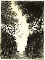Shigeru Kimura fl.ca. 1950s - Forest Path
