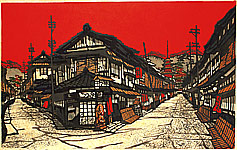 Kan Kawada ?-1999 - Street in Gion District