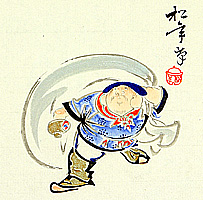 Shonen Suzuki 1849-1918 - Daikoku - The God of Fortune