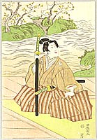 Samurai and Creek - Utagawa Toyokuni