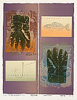 Cheng Guangyong born 1973 - Empty Glove. Substance in Paper No. 2