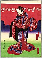 Yoshitaki Utagawa 1841-1899 - Girl Osome - Kabuki