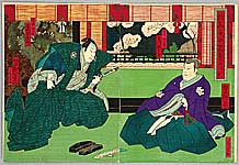 Yoshitaki Utagawa 1841-1899 - Chushingura Act.3 - Kabuki