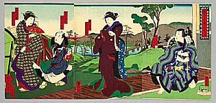 Yoshitaki Utagawa 1841-1899 - Chushingura Act.6 - Kabuki