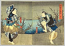 Hirosada Utagawa active ca. 1820-1860 - Two Actors - Kabuki