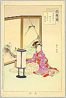 Shuntei Miyagawa 1873-1914 - Sewing - Manners and Customs