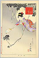 Shuntei Miyagawa 1873-1914 - Firefly Catching - Yukiyo no Hana