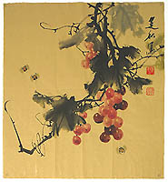 Jianqiu ZHANG born 1936 - Grapes and Bees